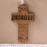 Bless This Child Personalized Natural Wood Cross
