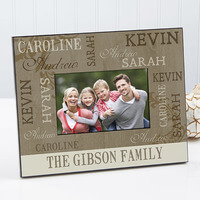 Our Loving Family Personalized 4x6 Photo..