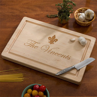 Personalized Maple Cutting Board With Serving..