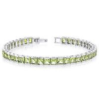 Princess Cut Gemstone Tennis Bracelet