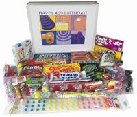 40th Birthday Gift Box Of Retro Candy
