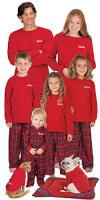 Classic Plaid Matching Family Pajamas