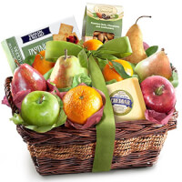Fruit Cheese And Nuts Basket