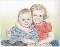 Hand Drawn Color Pencil Sketch From Photos