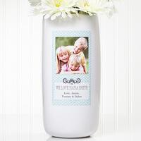 Chevron Class Personalized Photo Vase