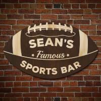 Football Fan Personalized Sports Bar Sign..