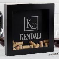Personalized Wine Cork Shadow Box - Square..