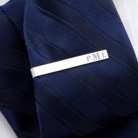 Personalized Tie Bar - Raised Monogram