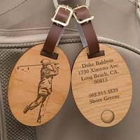 Personalized Golf Bag Tags - Vintage Golfer