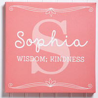 Personalized Name Meaning Canvas Art Print 12x12