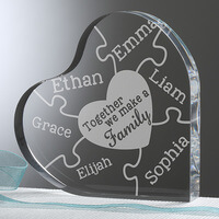 Together We Make A Family Personalized Heart..