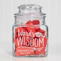 Personalized Words Of Wisdom Graduation Jar
