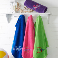 Personalized 35x60 Beach Towel - Embroidered Name