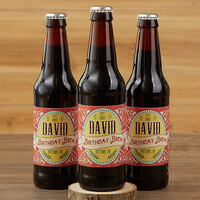 Personalized Beer Bottle Labels Set Of 6 - His..