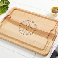 Personalized Romantic Maple Cutting Board -..