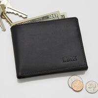 Personalized Leather Bi-Fold Wallet - Regent..
