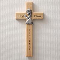 Personalized First Communion Wall Cross Praying..