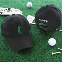 Golf Fan Personalized Golf Hat - Black