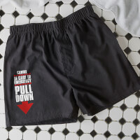Personalized Black Boxer Shorts - In Case Of..