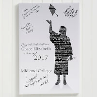 Graduation Guestbook Custom Art Print - 24x36