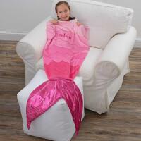 Personalized Mermaid Tail Blanket