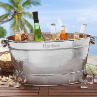 Personalized Stainless Steel Beverage Tub -..