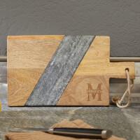 Oakmont Mango Wood & Marble Personalized..