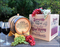 Personalized Wine Making Kit With Barrel