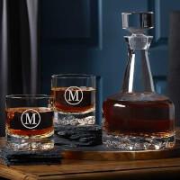 Engraved Whiskey Decanter Set - Orrefors