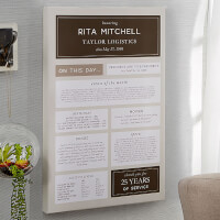 Personalized Retirement Gift - 20x30 Chronicle..