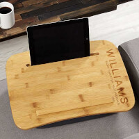 0 Personalized Wood Lap Desk - Bold Style