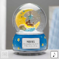 Baby Boy Personalized Musical & Light Up Snow..
