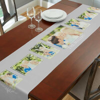 Family 7 Photo Collage 16x120 Table Runner