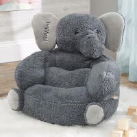 Custom Embroidered Kids Elephant Plush Chair