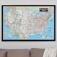 Personalized 28x42 United States Map From..