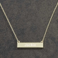Personalized Gold Nameplate Necklace For Her