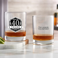 Personalized Retirement Whiskey Glasses