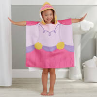 Princess Personalized Kids Hooded Poncho Bath..
