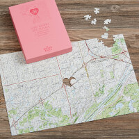 I Love You Personalized Map Jigsaw Puzzle
