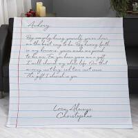Love Letter Personalized 50x60 Sweatshirt Blanket