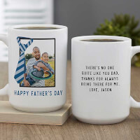 Tie-Riffic Dad Personalized Photo Coffee Mug 15..