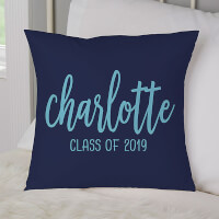 Personalized 14-Inch Velvet Throw Pillow -..