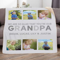 Glad Youre Our Dad Personalized 50x60 Sherpa..