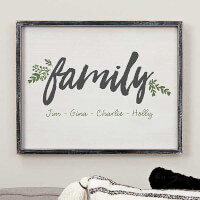 Cozy Home Personalized Blackwashed Wood Wall Art..
