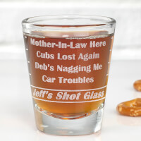 Personalized Shot Glass - Name Your Troubles