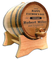 Fathers Day Whiskey & Wine Barrel