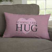 Sending Hugs Personalized Lumbar Throw Pillow