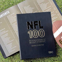 NFL 100 Greatest Moments Personalized Leather Book
