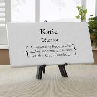 Teacher Definition Personalized Mini Canvas Print