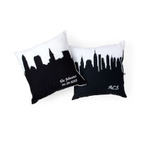 Personalized City Skyline Pillow